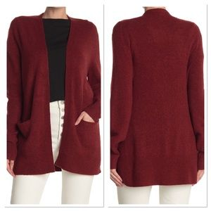 Madewell Open Front Patch Pocket Red Cardigan S